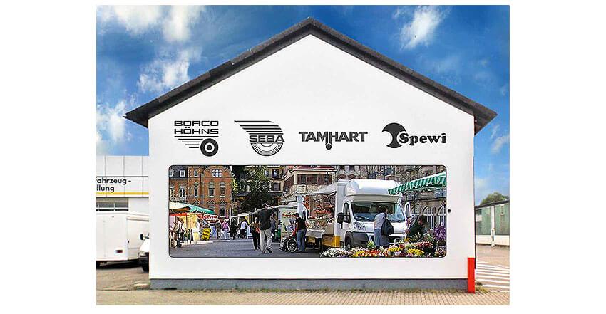 Gebäude-Außenwerbung Borco-Höhns