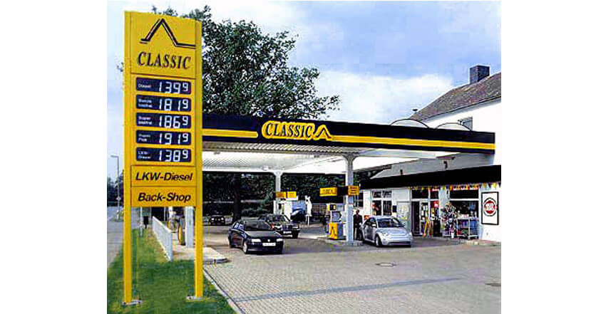 Tankstellengestaltung Classic