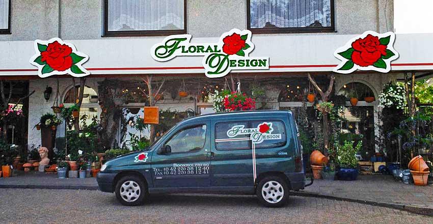 Außenwerbung Floral-Design
