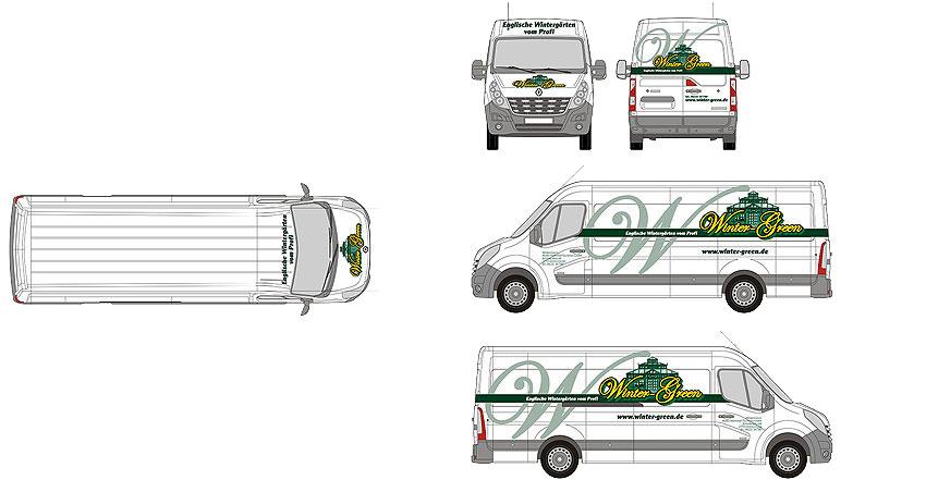 Fahrzeuggestaltung Winter-Green