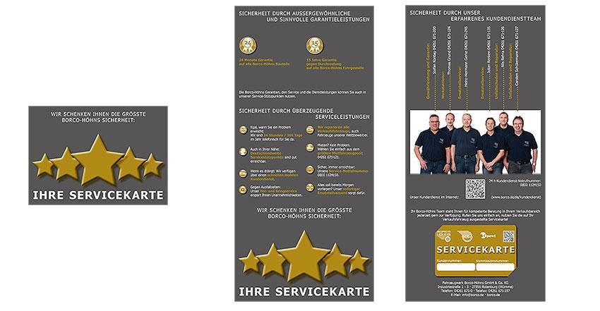 Gestaltung Servicefolder