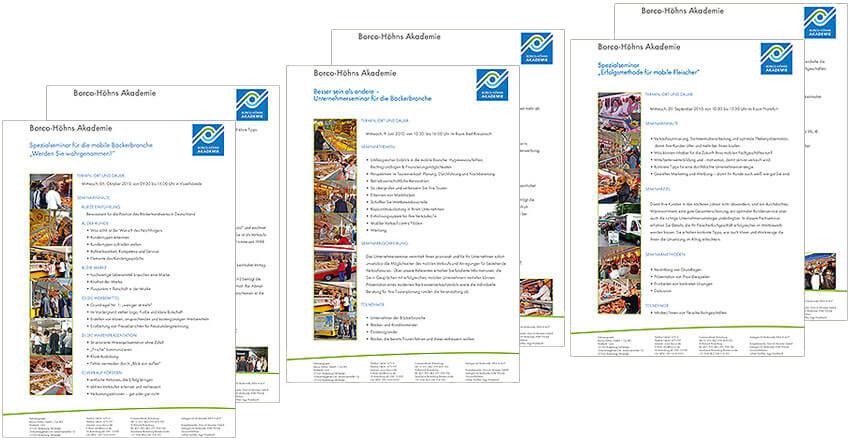Gestaltungen für Seminarbeschreibungen