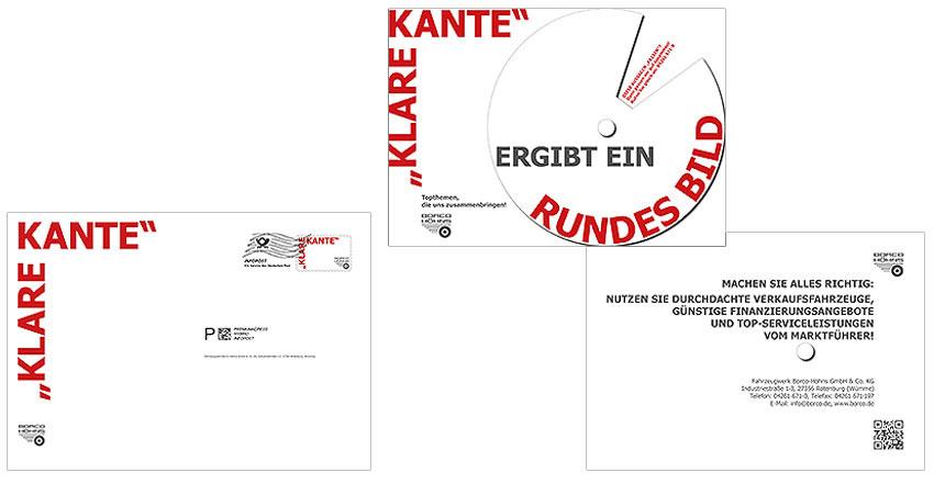 Gestaltung für 3D-Infokarte