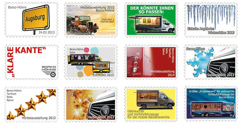 Gestaltungen für Briefmarken