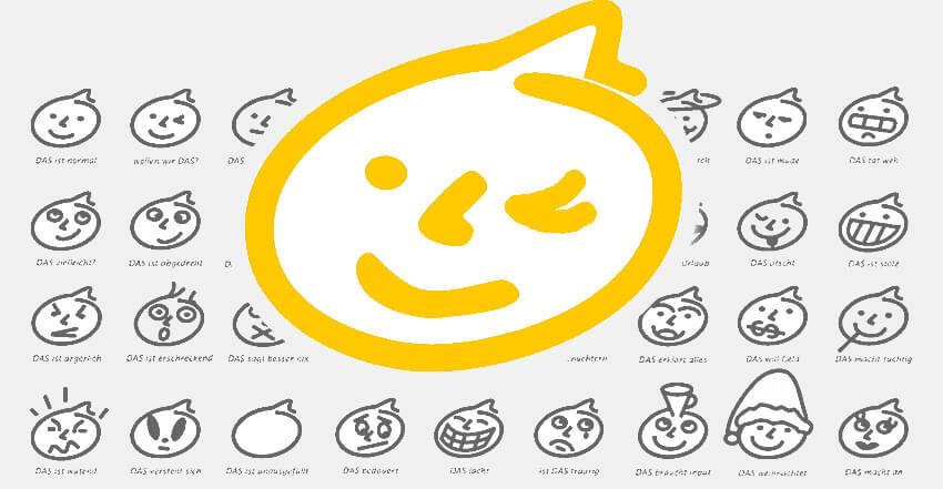 Gestaltung für Emoticon