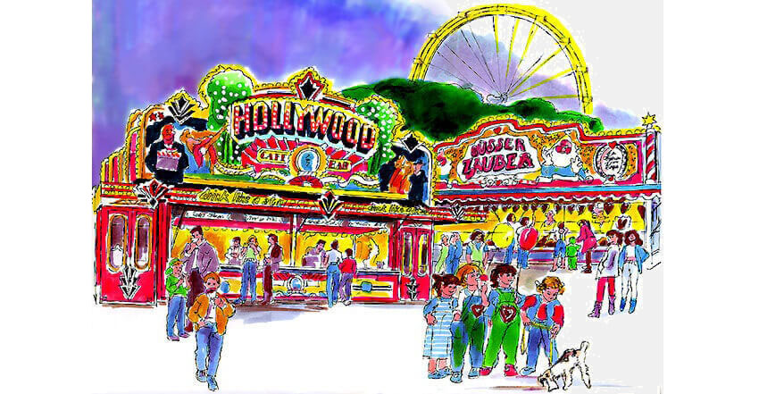 Illustration Wochenmarktszene