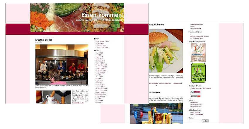 Gestaltung Blog Essen kommen