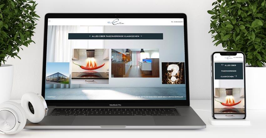 Websitegestaltung Internetweb Glasküchen