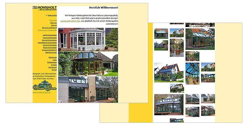 Websitegestaltung Internetweb Hohnholt Wintergärten