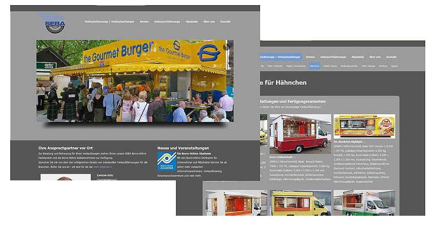 Websitegestaltung Internetweb Seba Verkaufsfahrzeuge
