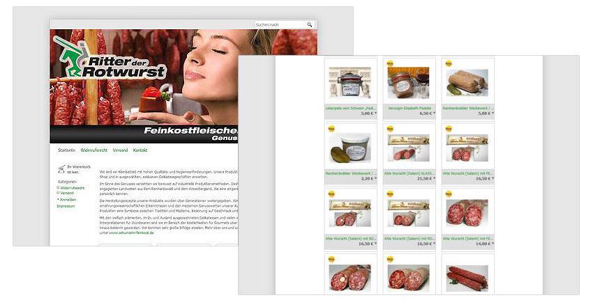 Shopgestaltung Internetweb Schumann Feinkost