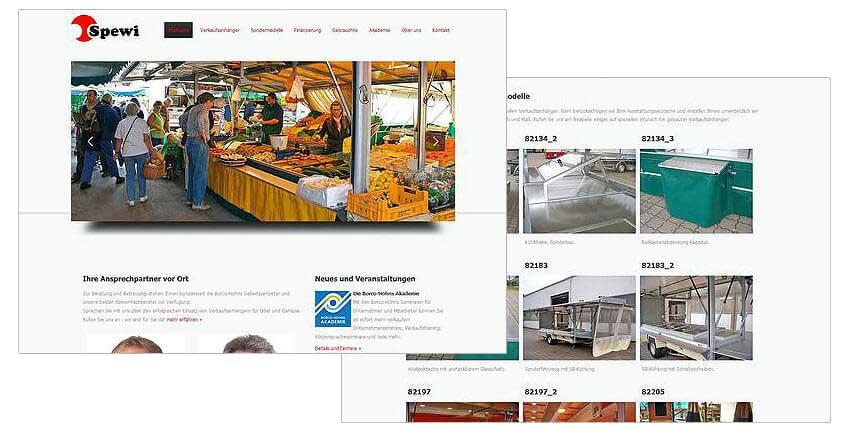 Websitegestaltung Internetweb Spewi Verkaufsfahrzeuge