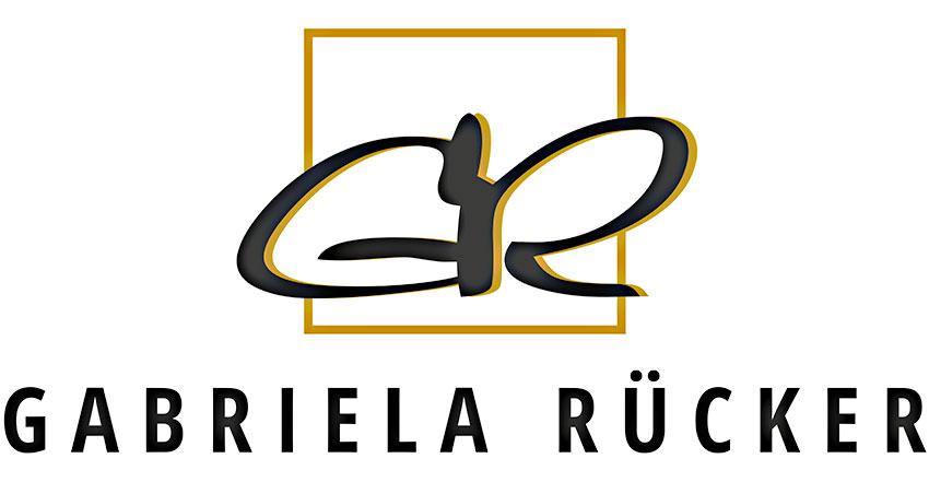 Logotype Gebriela Rücker, Raumgestaltung