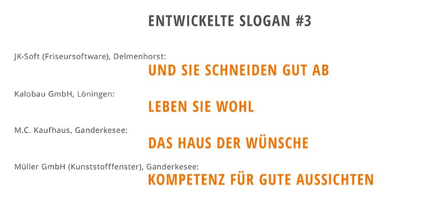 Entwicklung von Slogans 3