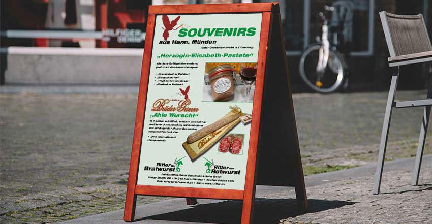 Plakat Ahle Wurscht