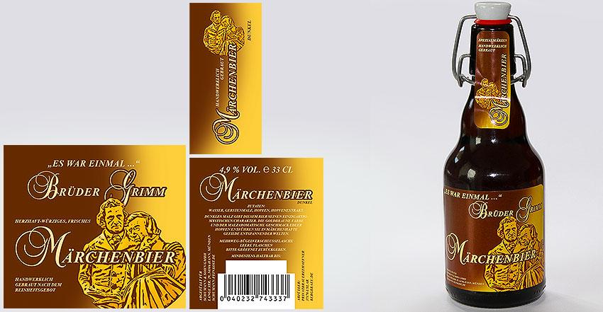 Etikettengestaltung für Bierflaschen