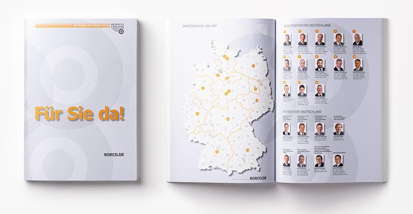 Gestaltungen für Infoprospekt