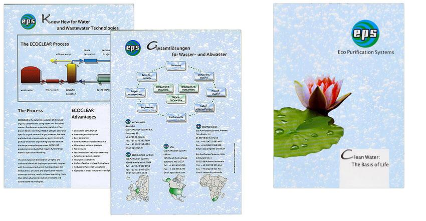 Prospektgestaltung für Abwasserunternehmen