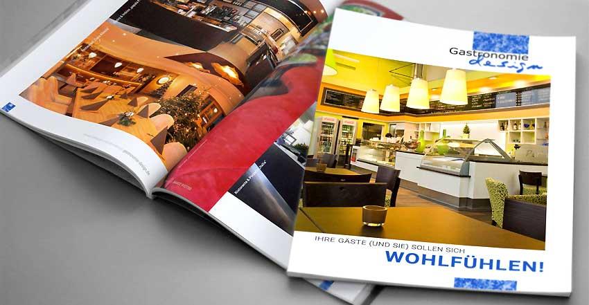 Gestaltung für Broschüre Gastronomie-design