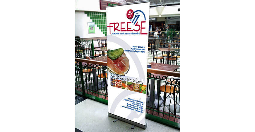 Gestaltung für Roll-up Freese